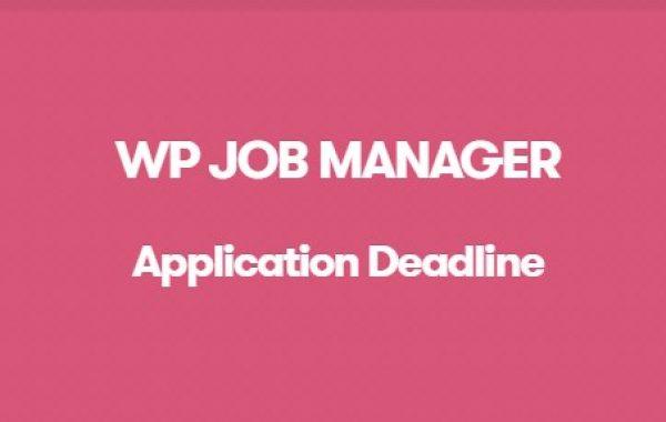 WP Job Manager Application Deadline Addon - Gpl Pulse