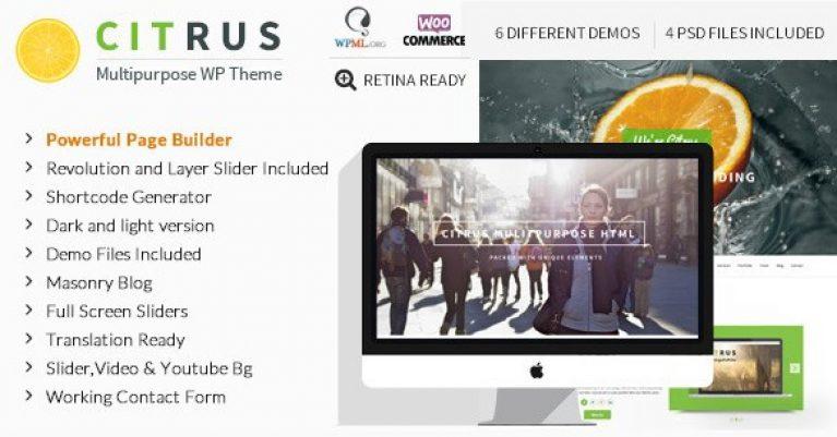 Citrus – One Page Multi-Purpose Theme - Gpl Pulse