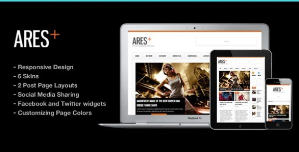 Ares Blog Magazine Newspaper Template - Gpl Pulse