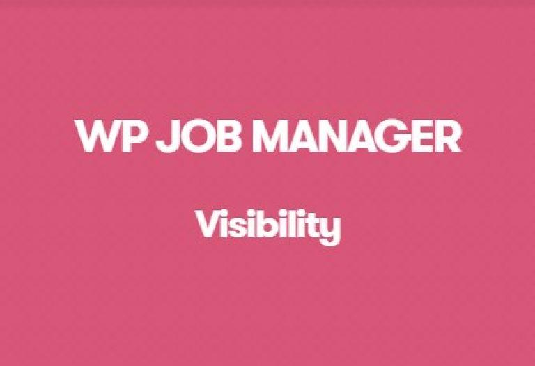 WP Job Manager Visibility Addon