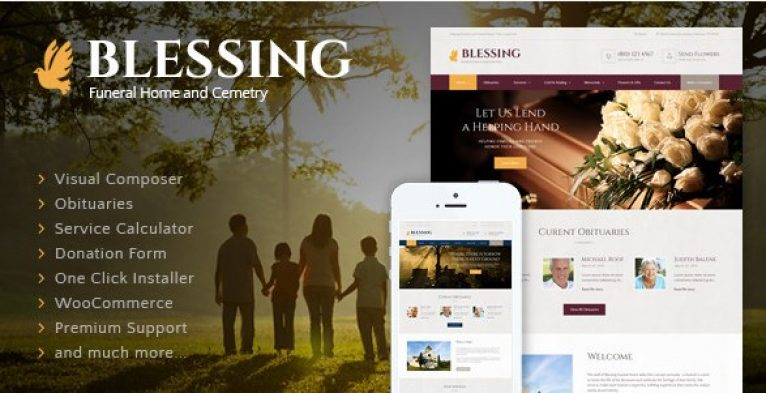 Blessing – Funeral Home WordPress Theme - Gpl Pulse