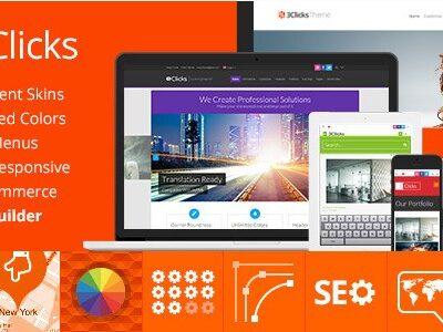 3Clicks – Responsive Multi-Purpose WordPress Theme - Gpl Pulse