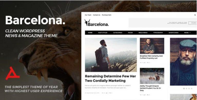 Barcelona – Clean News & Magazine WordPress Theme - Gpl Pulse