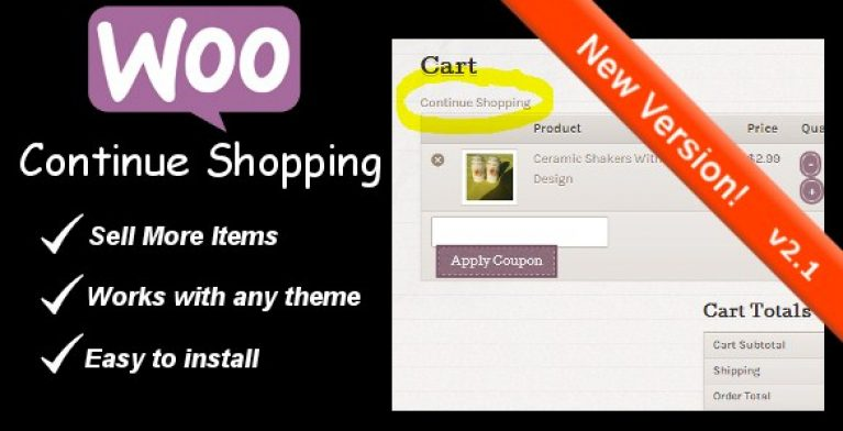 WooCommerce Continue Shopping Link - Gpl Pulse