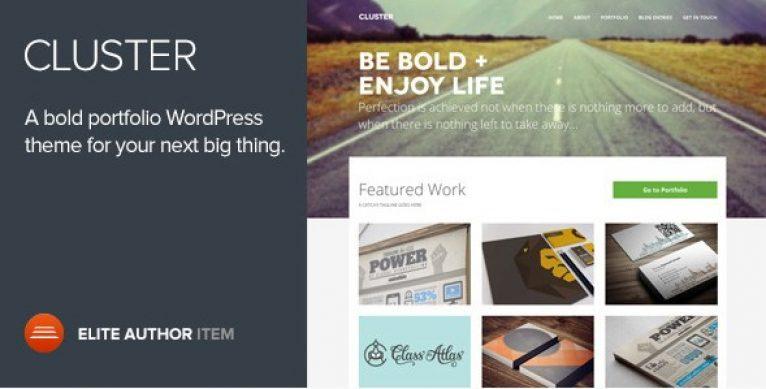 Cluster – A Bold Portfolio WordPress Theme - Gpl Pulse