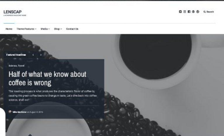 Array Themes Lenscap WordPress Theme - Gpl Pulse
