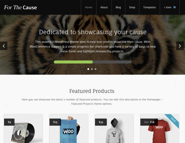 WooThemes For The Cause WooCommerce Themes - GPl Pulse