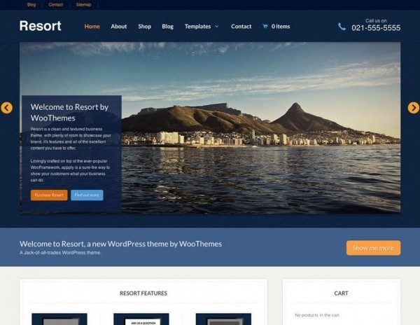 WooThemes Resort WooCommerce Themes - Gpl Pulse