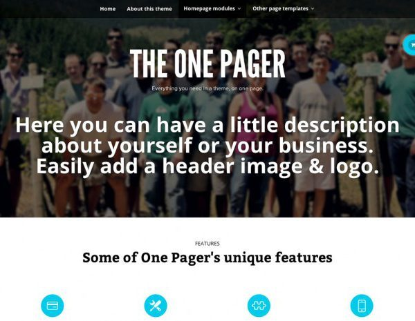 WooThemes The One Pager WooCommerce Themes - GPl Pulse