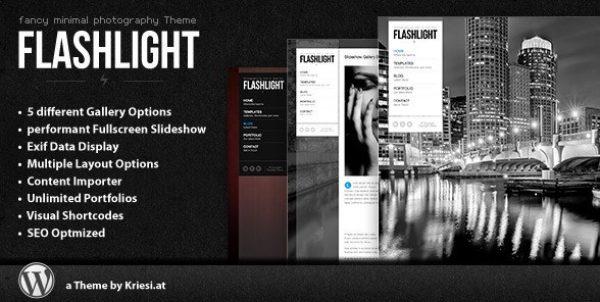 Flashlight – Fullscreen Background Portfolio Theme - GPl Pulse