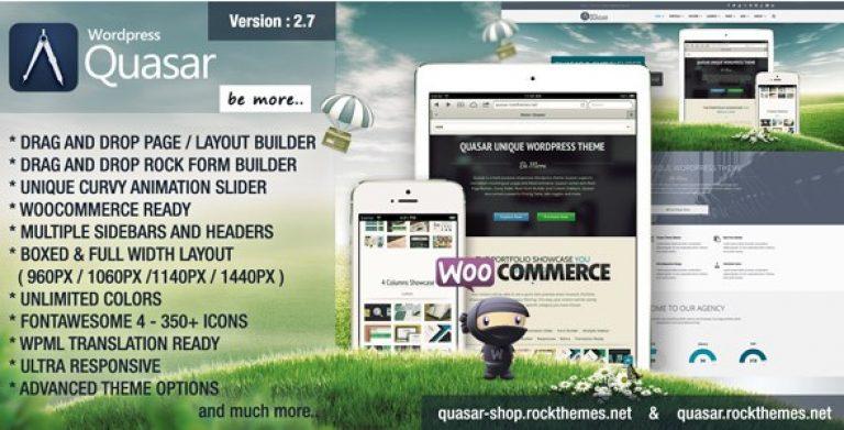 Quasar – WordPress Theme With Animation Builder - Gpl Pulse