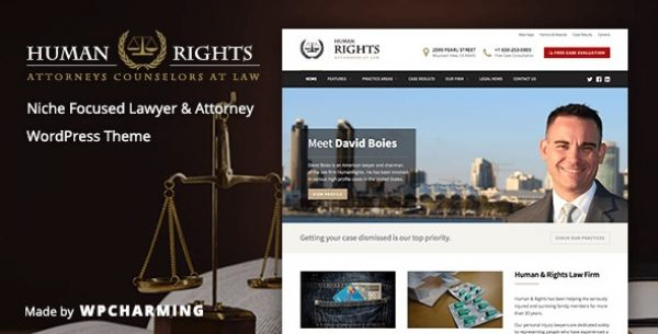HumanRights – Lawyer and Attorney WordPress Theme - Gpl Pulse