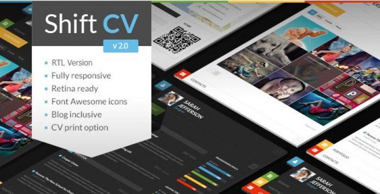 ShiftCV – Blog Resume Portfolio WordPress - Gpl Pulse
