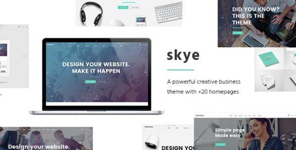 Skye – A Contemporary Theme for Creative Business - Gpl Pulse