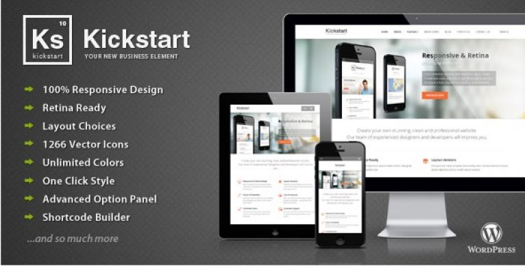 Kickstart – Retina Responsive Multi-Purpose Theme - Gpl Pulse