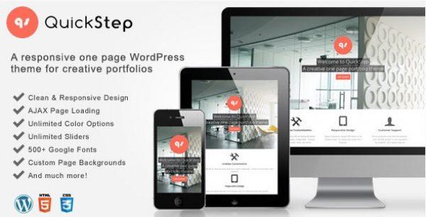 QuickStep – Responsive One Page Portfolio Theme - GPl Pulse