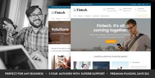 Fintech – Startup WordPress Theme - Gpl Pulse