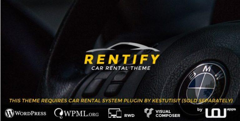 Rentify – Car Rental WordPress Theme - Gpl Pulse