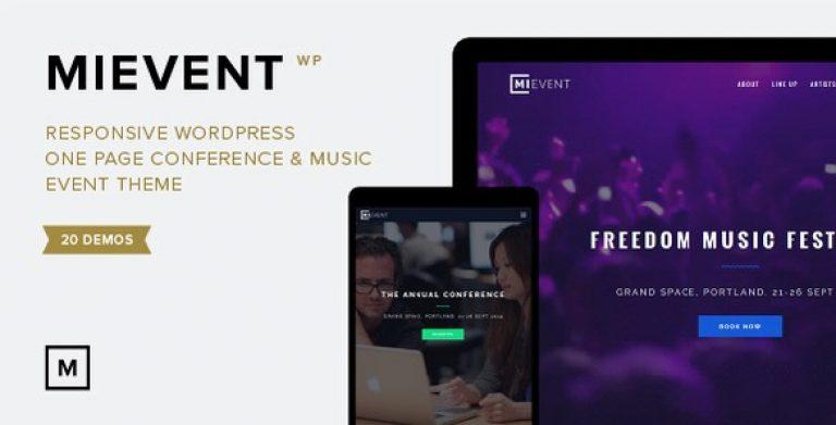 MiEvent – Responsive Event & Music WordPress Theme - Gpl Pulse