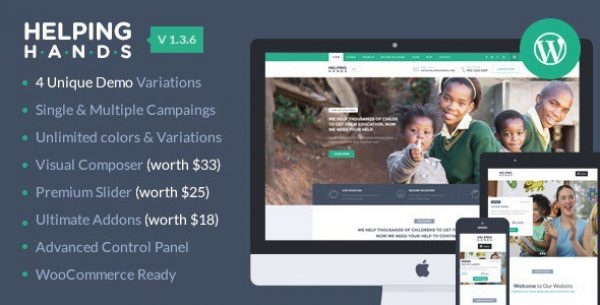 HelpingHands – Charity/Fundraising WordPress Theme - Gpl Pulse