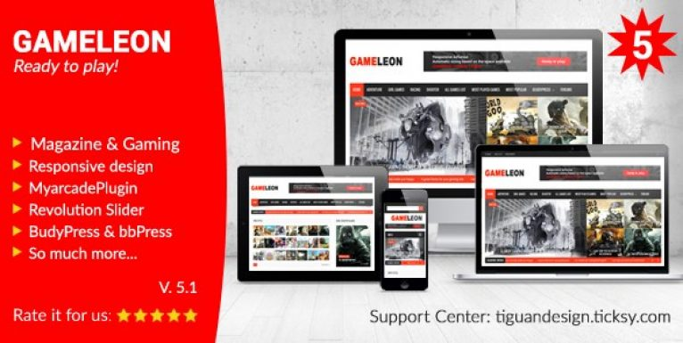 Gameleon – WordPress Magazine & Arcade Theme - Gpl Pulse
