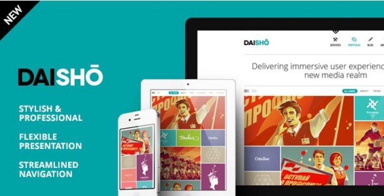 Daisho – Flexible WordPress Portfolio Theme - Gpl Pulse
