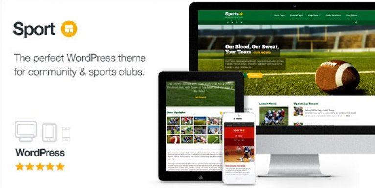 Sport – WordPress Club Theme - Gpl Pulse