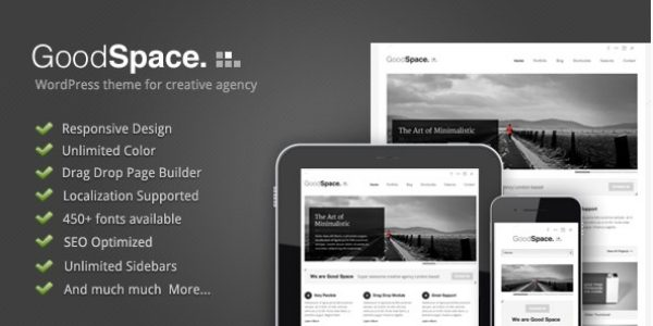 Good Space – Responsive Minimal WP Theme - Gpl Pulse