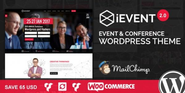 iEvent – Event & Conference WordPress Theme - Gpl Pulse