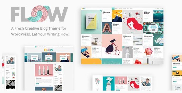Flow – A Fresh Creative Blog Theme - Gpl Pulse