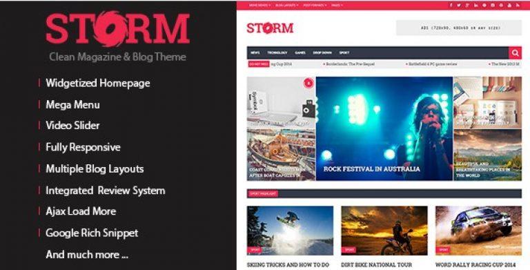 Storm – Clean Magazine & Blog Theme - Gpl Pulse