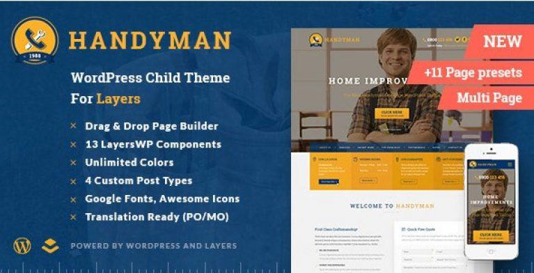 Handyman – Craftsman Business WordPress Theme - Gpl Pulse