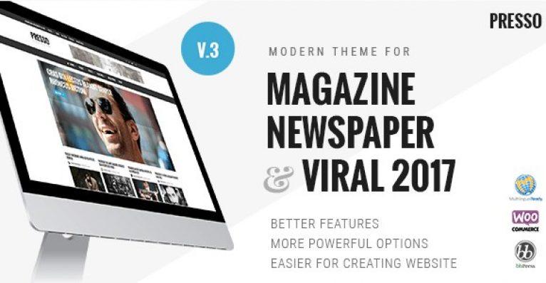 PRESSO – Modern Magazine Newspaper Viral Theme - Gpl Pulse