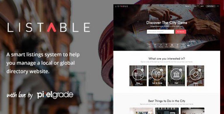 LISTABLE – A Friendly Directory WordPress Theme - Gpl Pulse