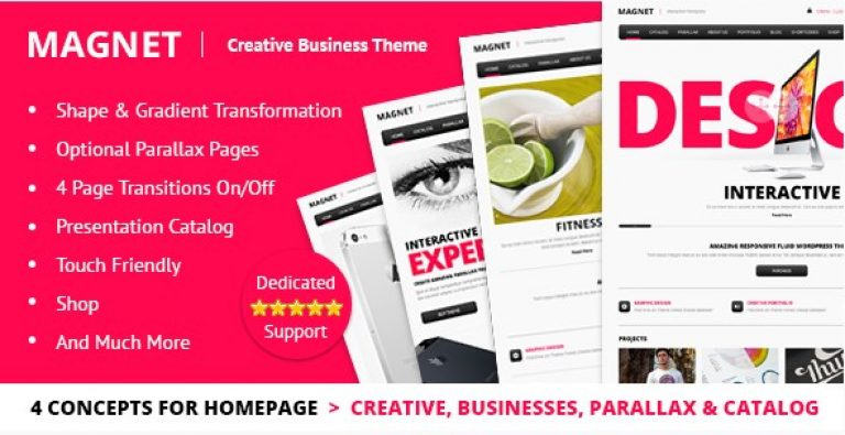 MAGNET – Creative Business WordPress Theme - Gpl Pulse