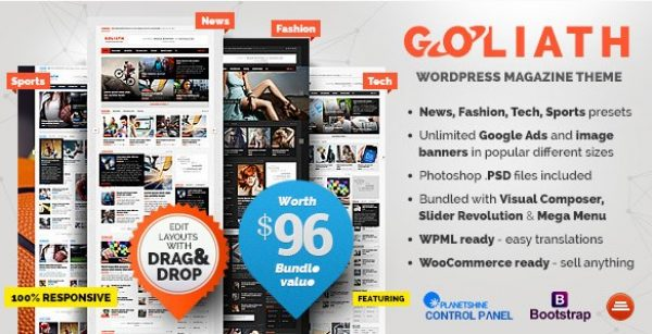 GOLIATH – Ads Optimized News & Reviews Magazine - Gpl Pulse