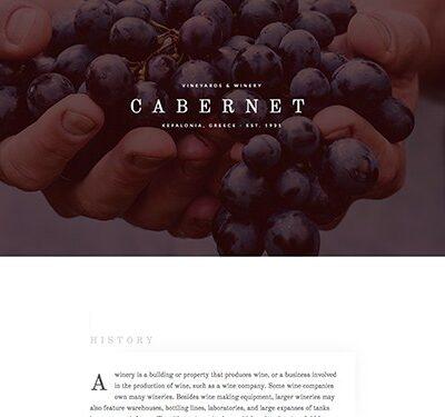 Elementorism Cabernet Landing Page - Gpl Pulse