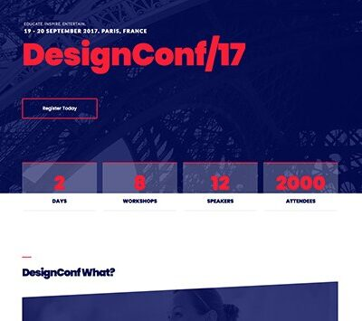 Elementorism DesignConf Landing Page - Gpl Pulse