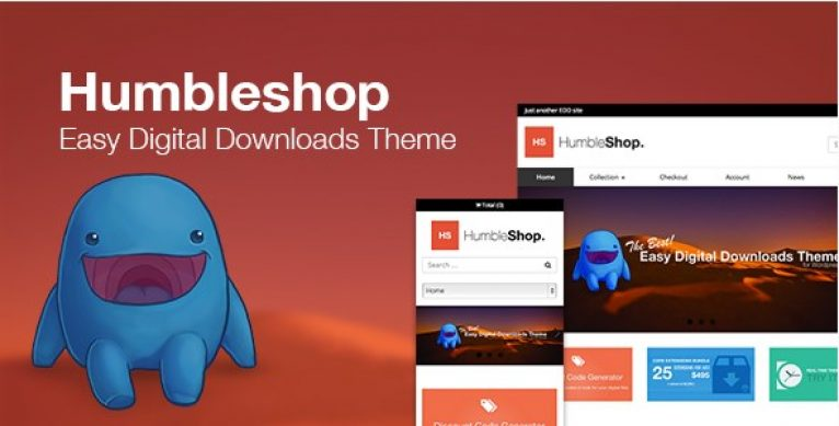 Humbleshop – Minimal Easy Digital Downloads Theme - Gpl Pulse