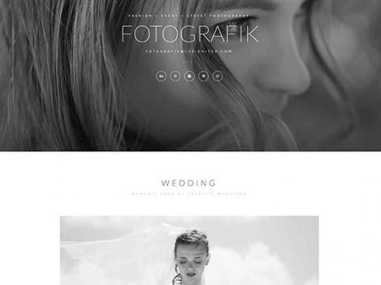 Elementorism Fotografik Landing Page - Gpl Pulse