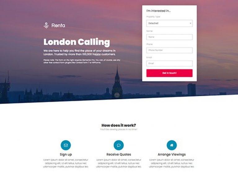 Elementorism London Landing Page - Gpl Pulse