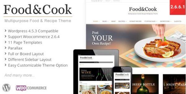 Food & Cook – Multipurpose Food Recipe WP Theme - Gpl Pulse