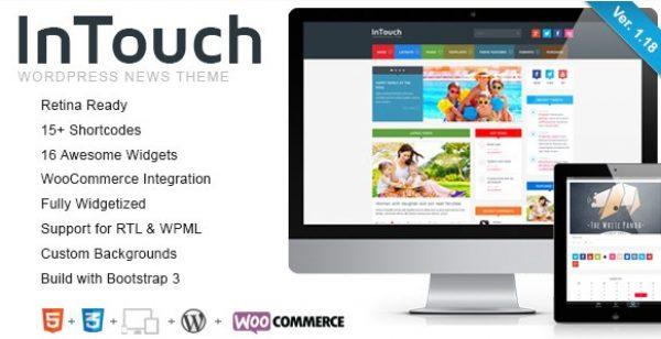 InTouch – Retina Responsive WordPress News Theme - Gpl Pulse