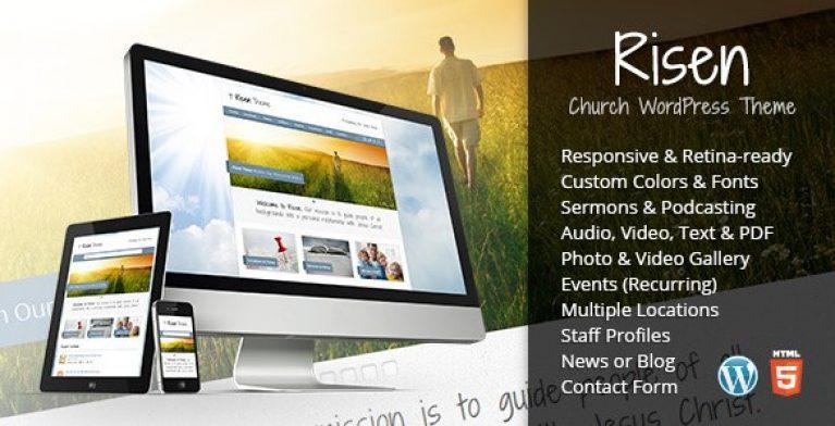 Risen – Church WordPress Theme Responsive - Gpl Pulse