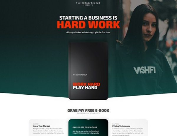 Elementorism The Entrepreneur Landing Page - Gpl Pulse