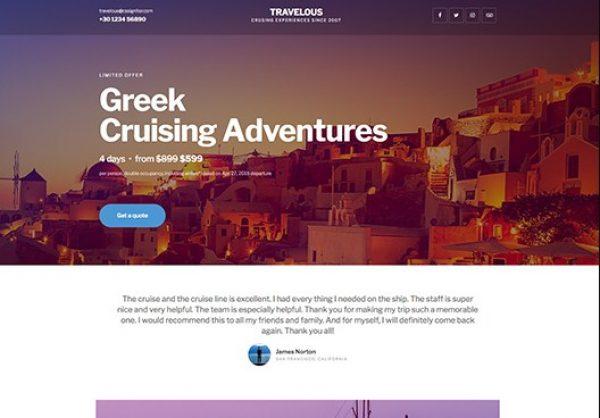 Elementorism Travelous Landing Page - Gpl Pulse