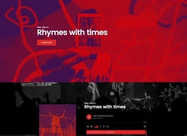 Elementorism Rhymes Landing Page - Gpl Pulse