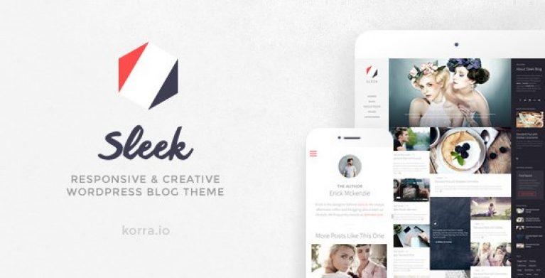 Sleek – Responsive & Creative WordPress Blog Theme - Gpl Pulse