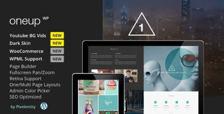 OneUp – One Page Parallax Retina WordPress Theme - Gpl Pulse