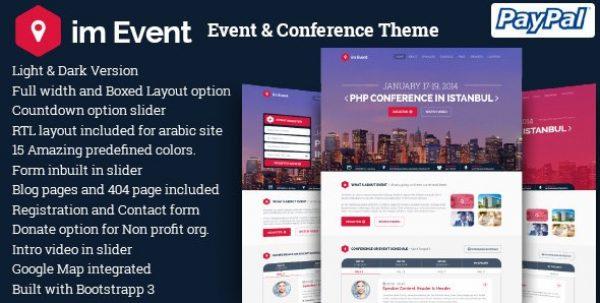Im Event – Event & Conference WordPress Theme - Gpl Pulse